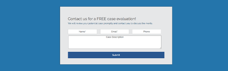 sign up for a free case evaluation
